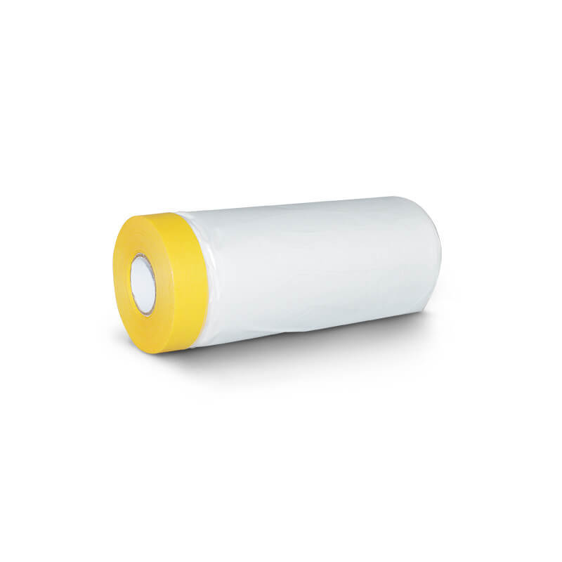 High Viscosity Car Protective Yellow Pre-Taped Masking Film