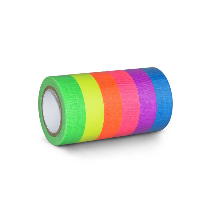UV Glow Pack Coloured Neon Neon Fluo Masking Reactive Tape