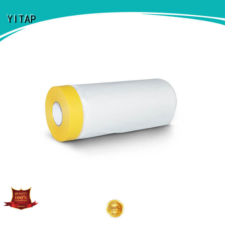 YITAP removable automotive masking film on a roll for fabric