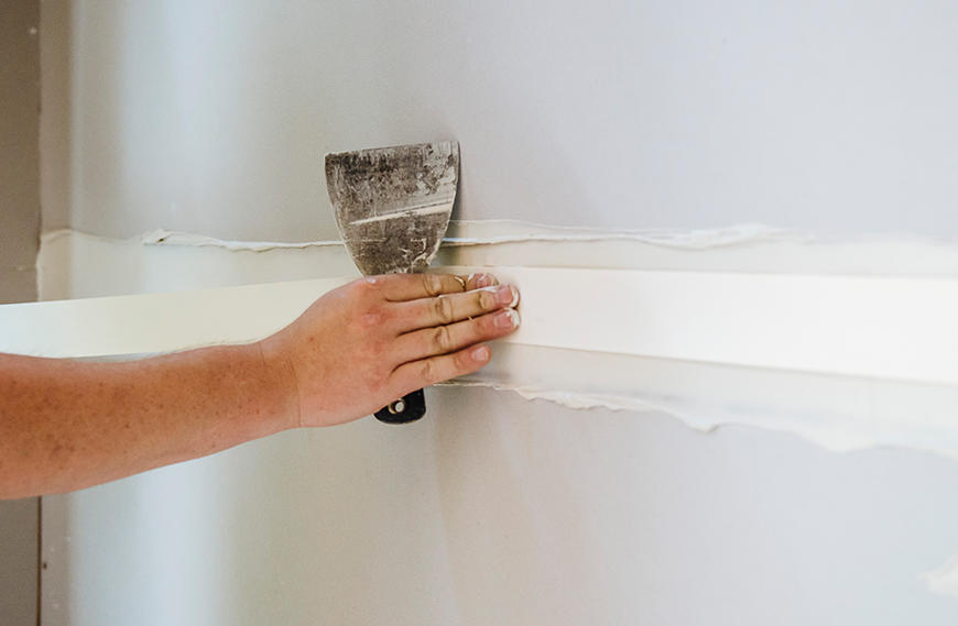 fiberglass plasterboard joint tape repair for repairs