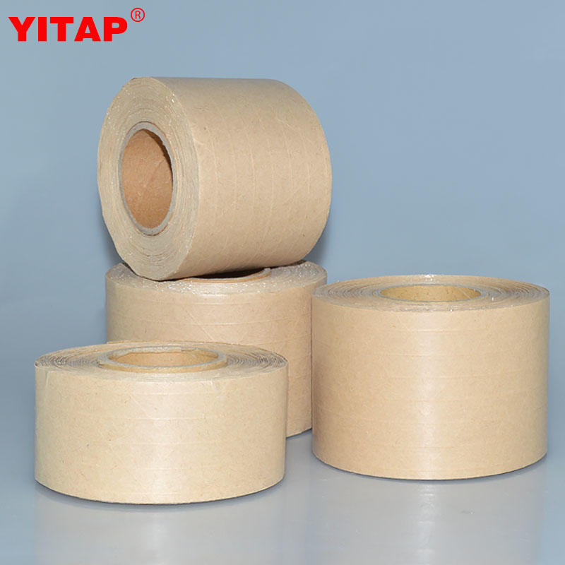 Box Sealing Water Activated Gummed Custom logo Printed kraft Paper Tape