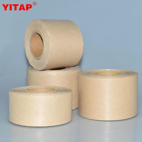 Box Sealing Water Activated Gummed Custom logo Printed kraft Paper Tape