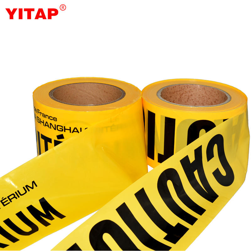 Good Quality Black Yellow Police Caution Tape for Barrier Warning