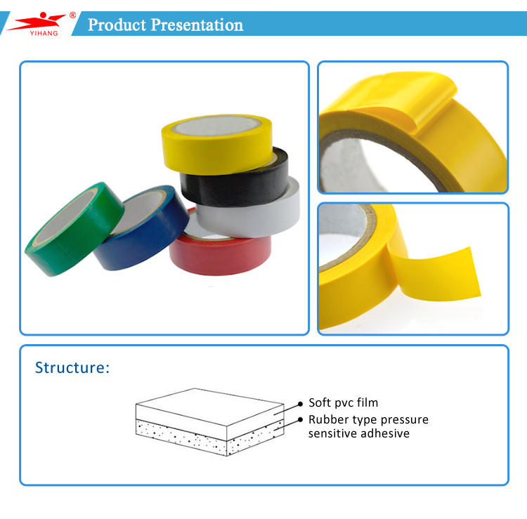 2016 New Product Wonder Pipe Wrapping PVC Insulation Electrical Tape