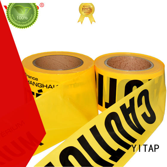 YITAP custom safety barricade tape supply for caution
