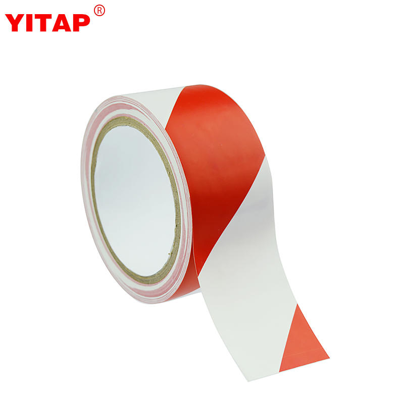 White And Red Floor Tape